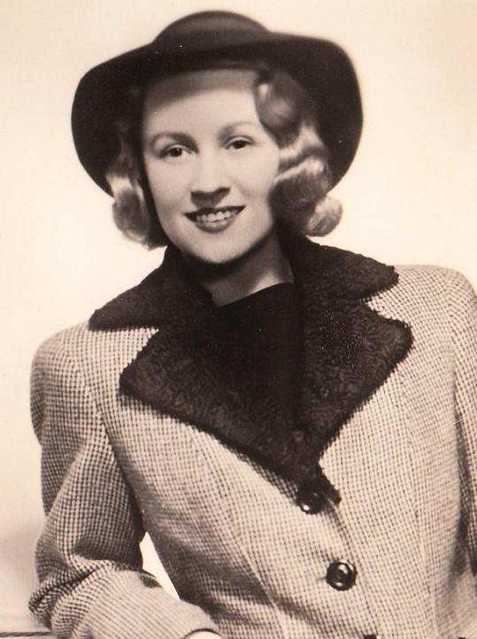 Nataša Gollová ve třicátých letech.