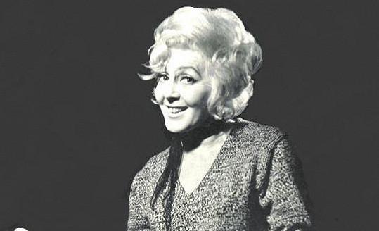 Ljuba Hermanová v letech šedesátých.