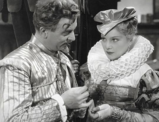 Se Zdeňkem Štěpánkem ve slavném filmu Cech panen Kutnohorských (1938)