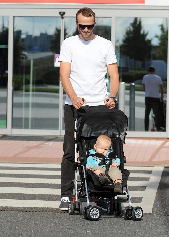 Lukáš Langmajer se synem