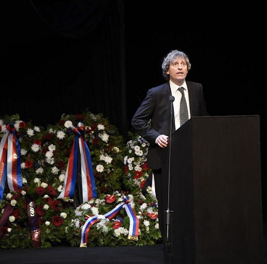 David Prachař byl jedním z řečníků.