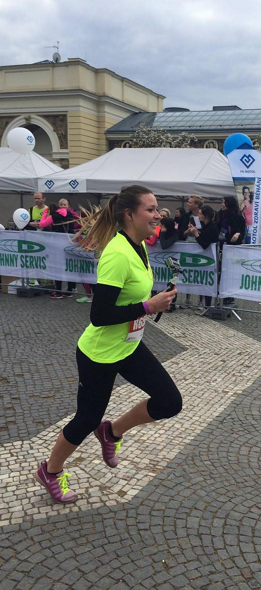 A do cíle doběhla ve svém osobním rekordu i Eva Čerešňáková.