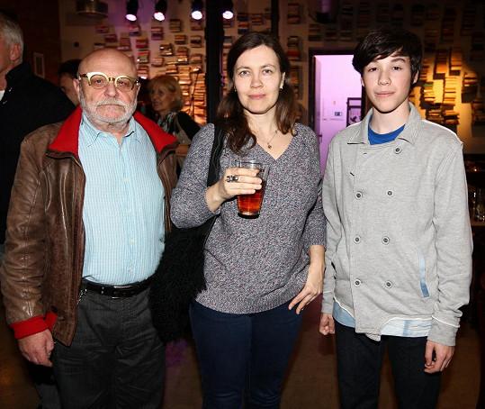 Goldflam s manželkou Petrou a synem Otíkem