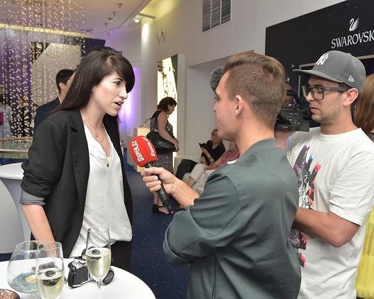 Ina Tina během rozhovoru pro Super.cz