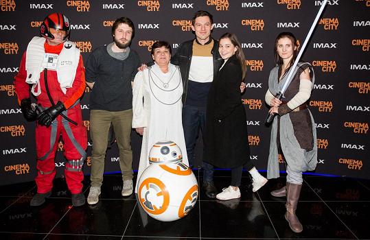 Pavel a Sabina na premiéře filmu Star Wars: Vzestup Skywalkera