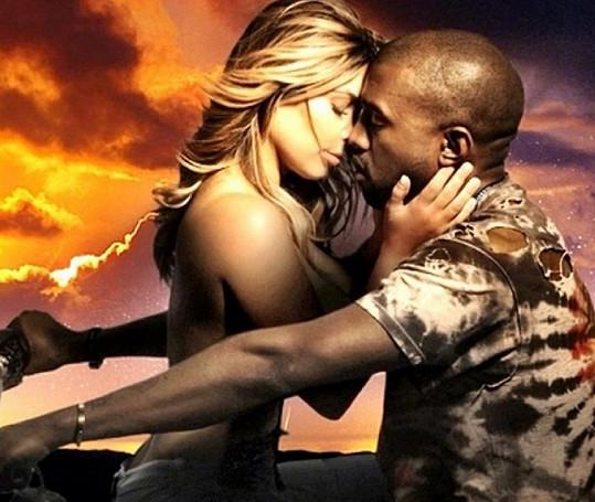 Kim Kardashian a Kanye West si zahráli ve žhavém klipu.
