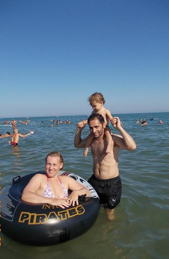 Horváthovi v moři.