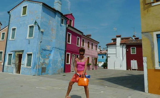 Eva Jeníčková na dovolené v Benátkách