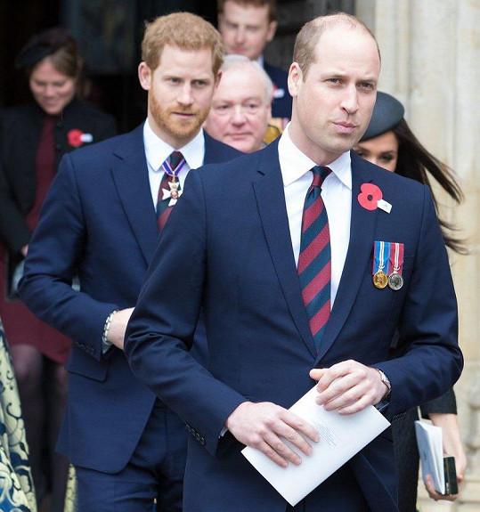 Podle některých komentujících na sociálních sítích je Simon podobný princi Williamovi (vpravo). Na snímku s bratrem Harrym