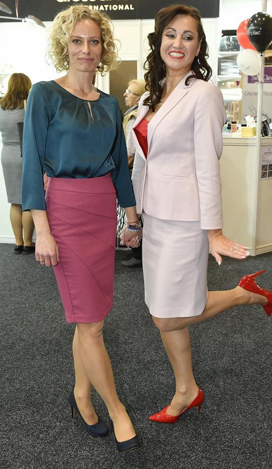Kristina s kamarádkou Tamarou Rotterovou, která ji na akci pozvala.