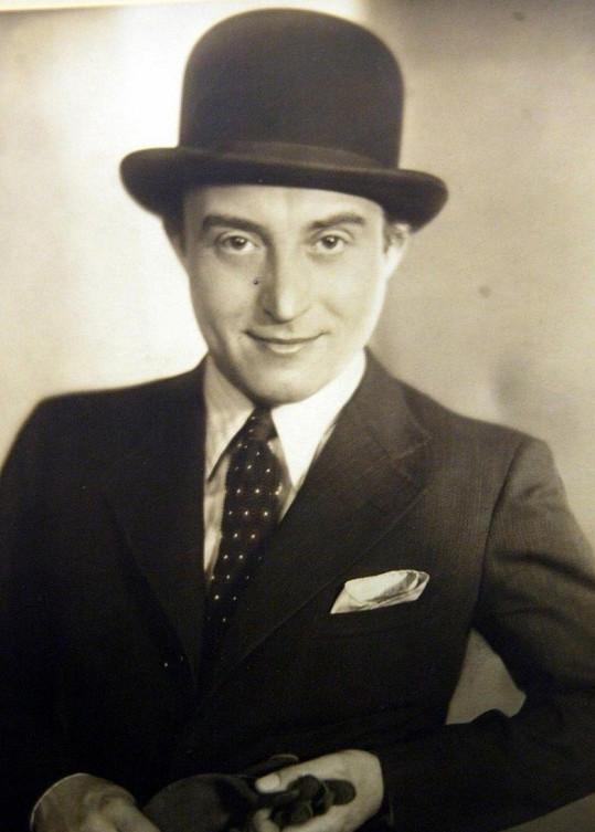 Oldřich Nový ve třicátých letech, kdy začínal být hodně populární.