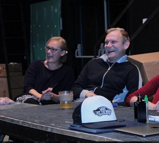 Zuzana Slavíková a Ondřej Volejník na první čtené zkoušce