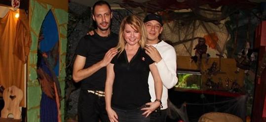Iveta Bartošová s bývalými spolupracovníky Theodorem Hoidekrem (vlevo) a Martinem Wolfem.