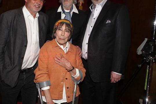 Hana Hegerová, Richard Müller, Petr Hapka a Michal Horáček si křest užili.
