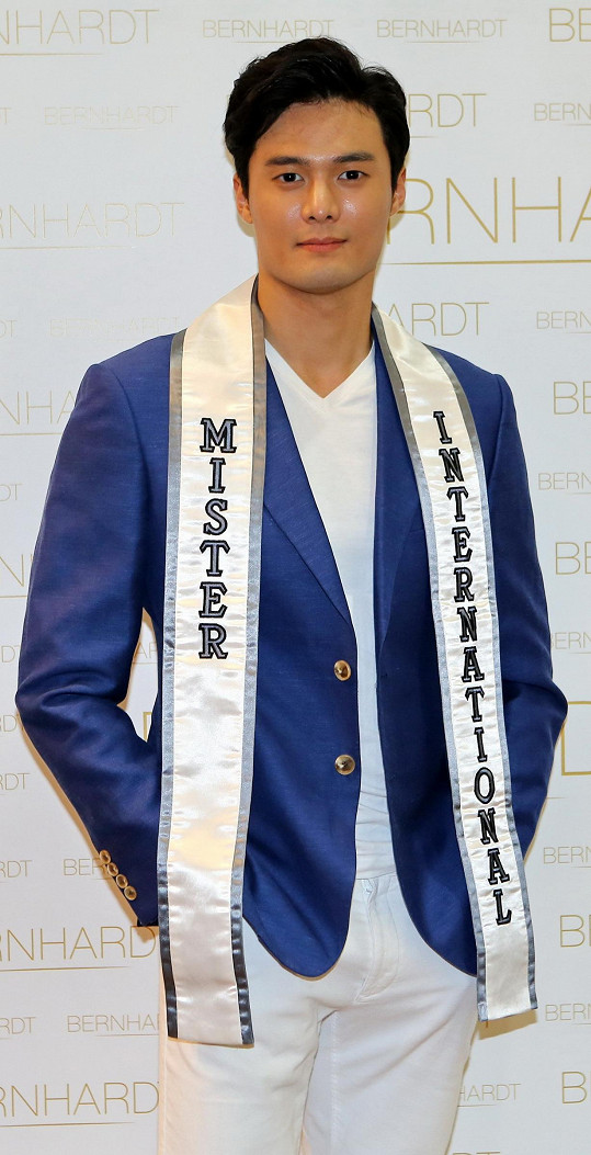 Mr. International pochází z Jižní Koreje.