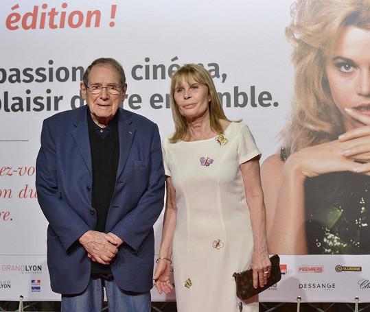 Robert Hossein s manželkou Candice Patou