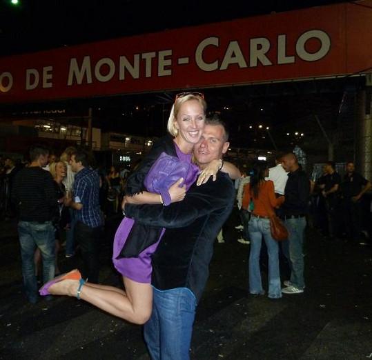 Zuzana Belohorcová a Vlasta Hájek si výlet v Monte Carlu užili.