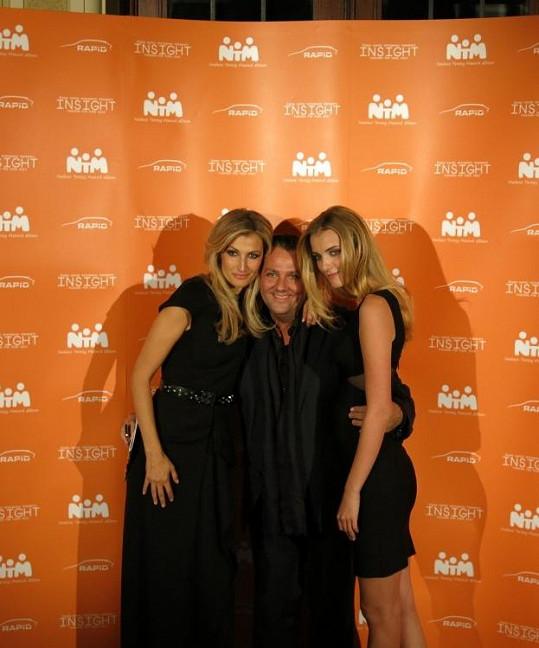 Denisa s Terezou Maxovou a manažerem Sašou Jánym