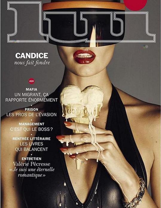 Obálka časopisu Lui s Candice Swanepoel