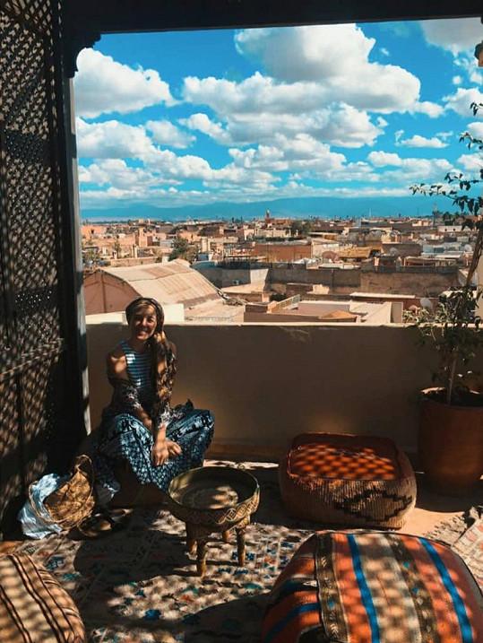 Anička Slováčková na dovolené v Maroku