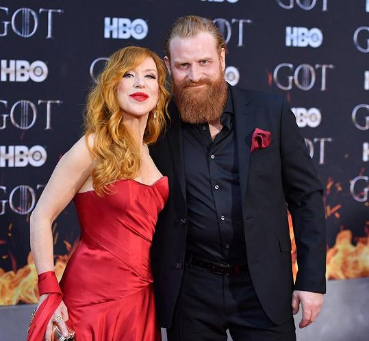 Kristofer Hivju s manželkou Gry Molvaer Hivju