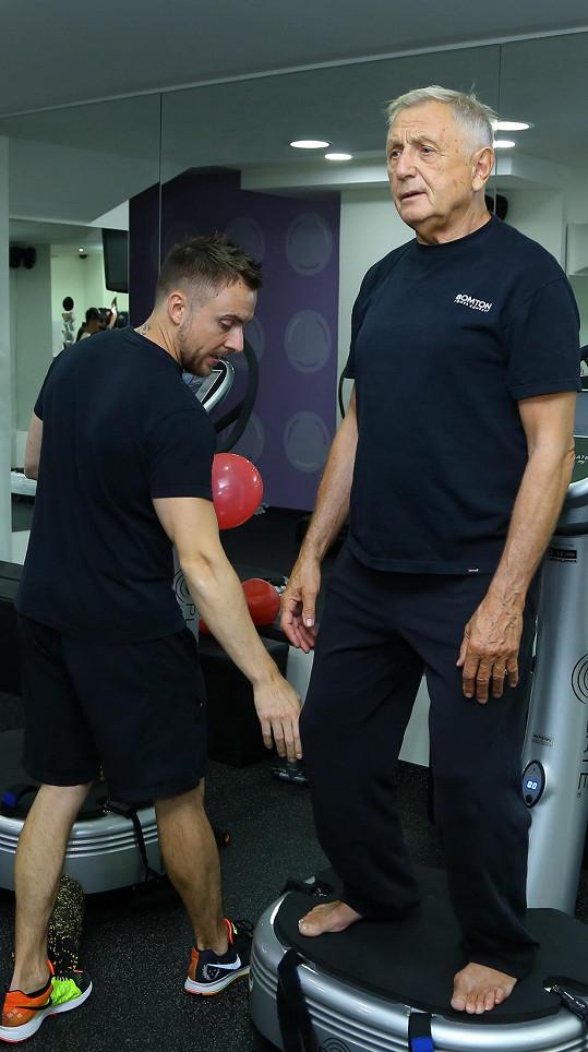 Jiří Menzel cvičí dvakrát týdně.