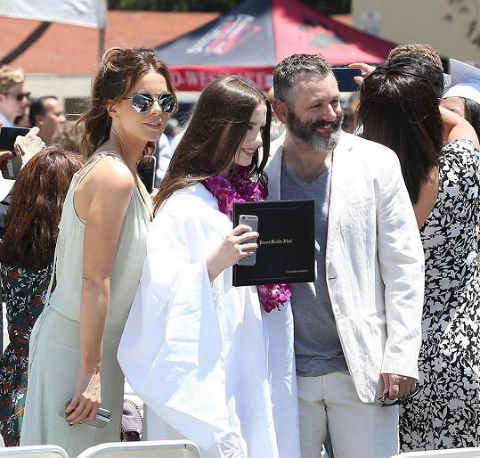 Michael Sheen s bývalou partnerkou Kate Beckinsale a jejich dcerou Lily Mo