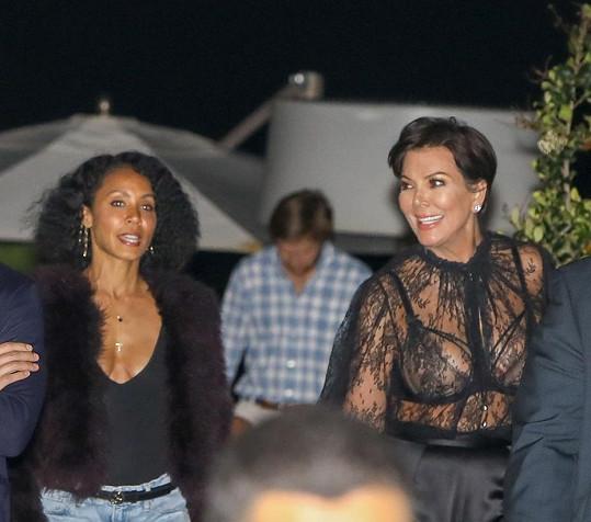 S kamarádkou Jadou Pinkett Smith se Kris sešla na večeři v Los Angeles.