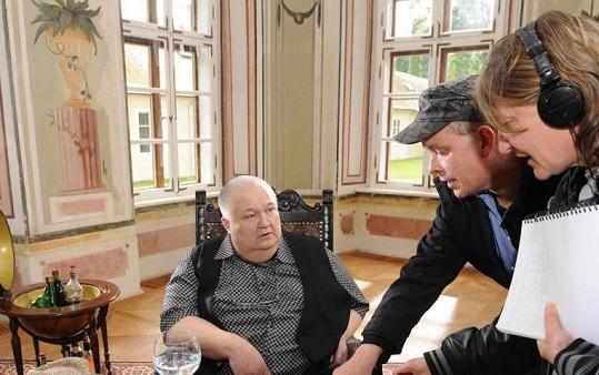 Na place s režisérem Novákem (vpravo)
