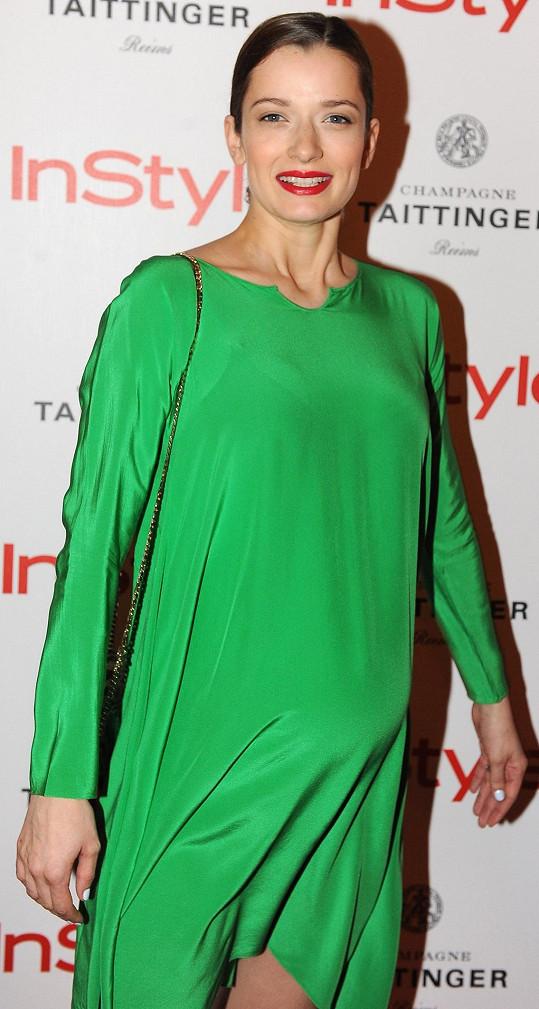Marika Šoposká je v 8. měsíci těhotenství.