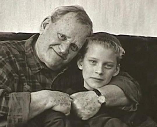 Ilja Prachař s malým vnukem Jakubem