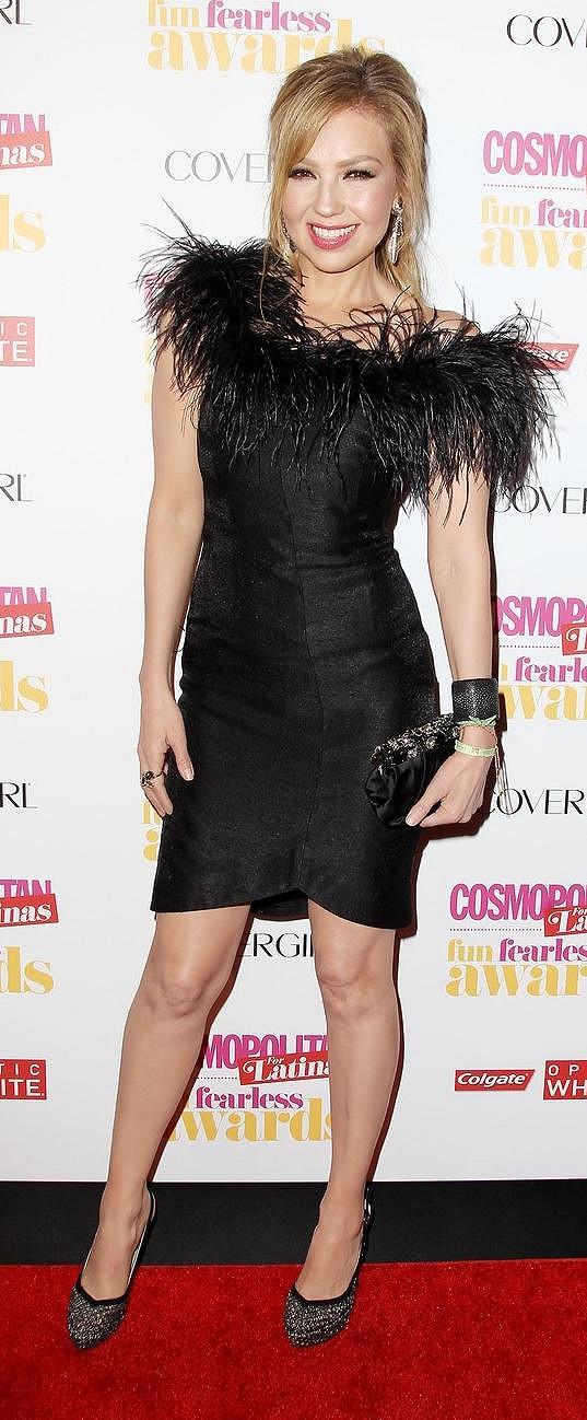 Thalia v New Yorku ukázala svou sexy postavu.