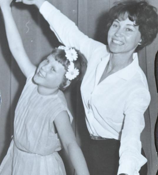 S milovanou maminkou, která ji učila baletit...