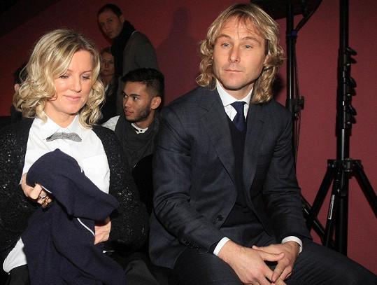 Pavel Nedvěd s manželkou Ivanou