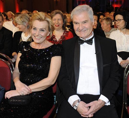 S manželkou Zdeňkou v publiku