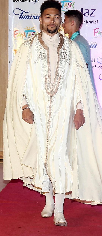 David se omlouval za výraz, který použil o finalistovi č. 9 Immanuelovi (na snímku předvádí model tuniského návrháře).