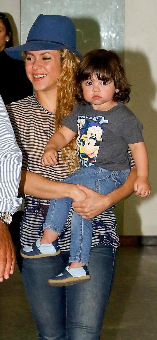 Shakira s prvorozeným synem Milanem
