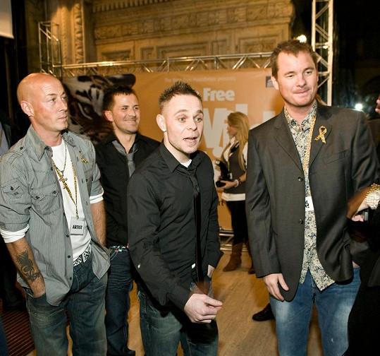 Kapela East 17, zleva John Hendy, Terry Coldwell, Brian Harvey a Tony Mortimer