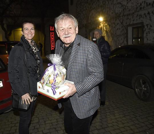 Nechyběl ani Karel Šíp s manželkou Ivou