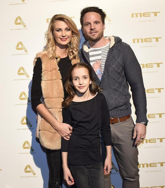 S přítelem Pavlem a jeho dcerou Nellou.