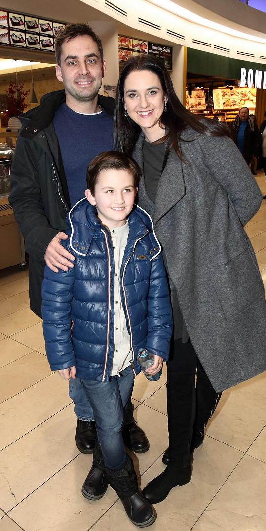 Libuška s manželem Zdeňkem a synem