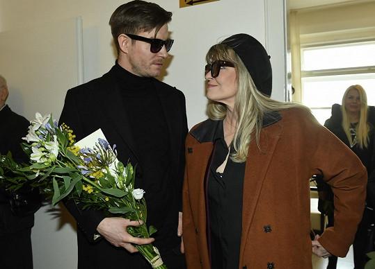 Vladimír Polívka s maminkou Chantal Poullain