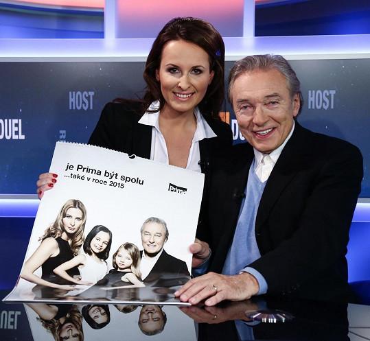 Křest kalendáře proběhl v pátečním Miniduelu, který je součástí Odpoledních zpráv TV Prima, a moderovala jej Lucie Šilhánová.