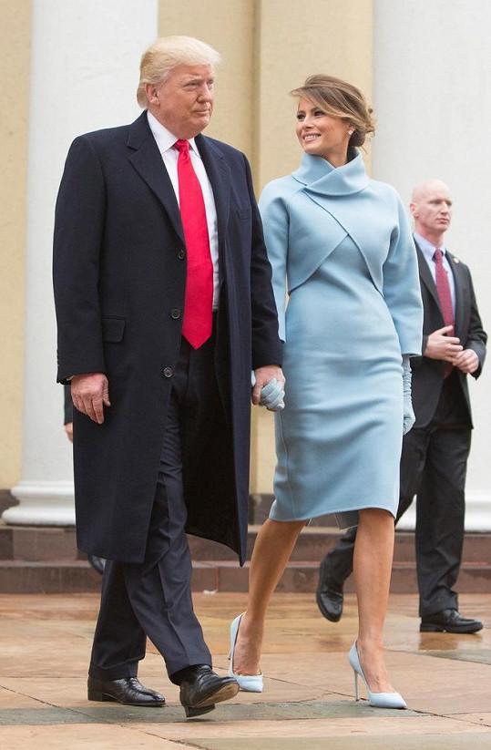 Melania s manželem Donaldem Trumpem, nynějším prezidentem USA