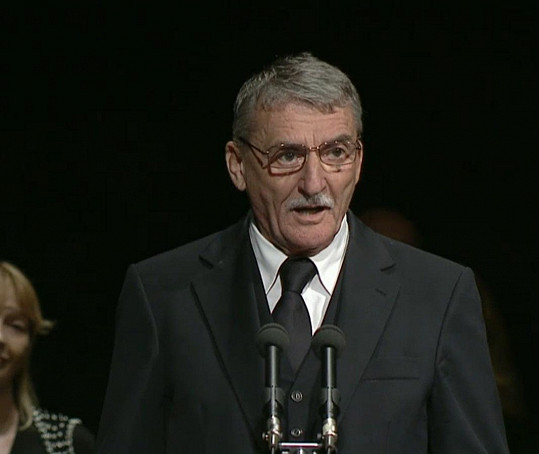 Na pohřbu promluvil i Martin Huba.