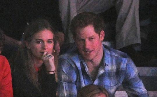 Cressida Bonas a princ Harry na jedné z mála společných fotek.