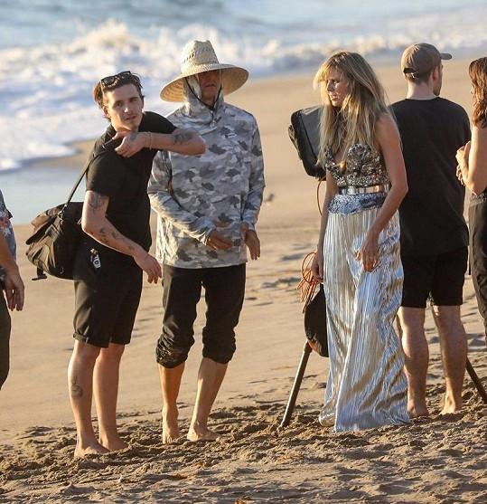Heidi Klum a Brooklyn Beckham se potkali na focení v Malibu.