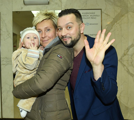 Michal Kavalčík s partnerkou Zuzanou a jejich synkem Davem Martinem