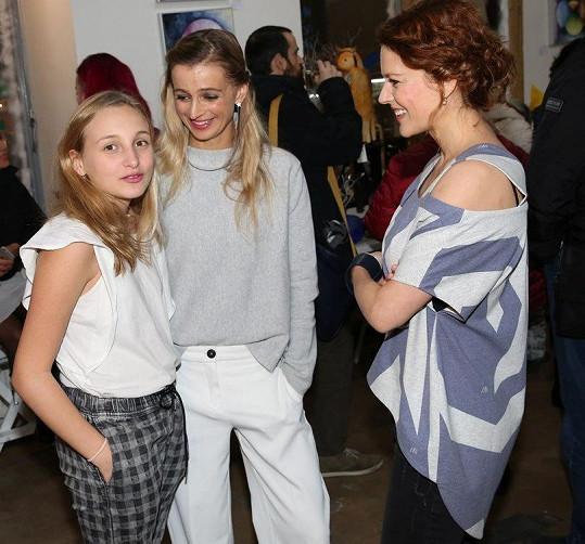 Na akci se potkaly i s herečkou Andreou Růžičkovou.