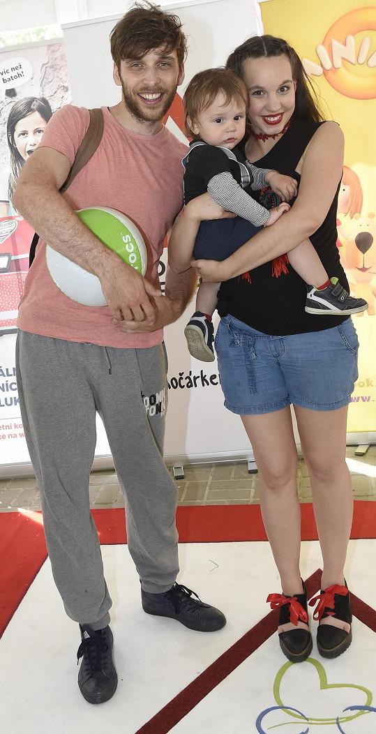 Míša s manželem a jejich prvorozeným synem Kristiánem.